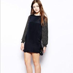 French Connection Sunspark Silk Dress NWOT Sz 0